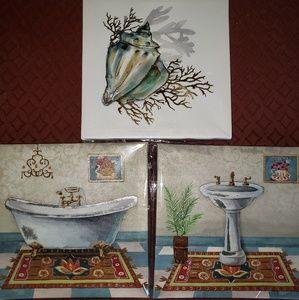 3 Decorative Wall Art Canvases